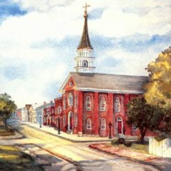 St. Paul's Church watercolor by Linda Clark
